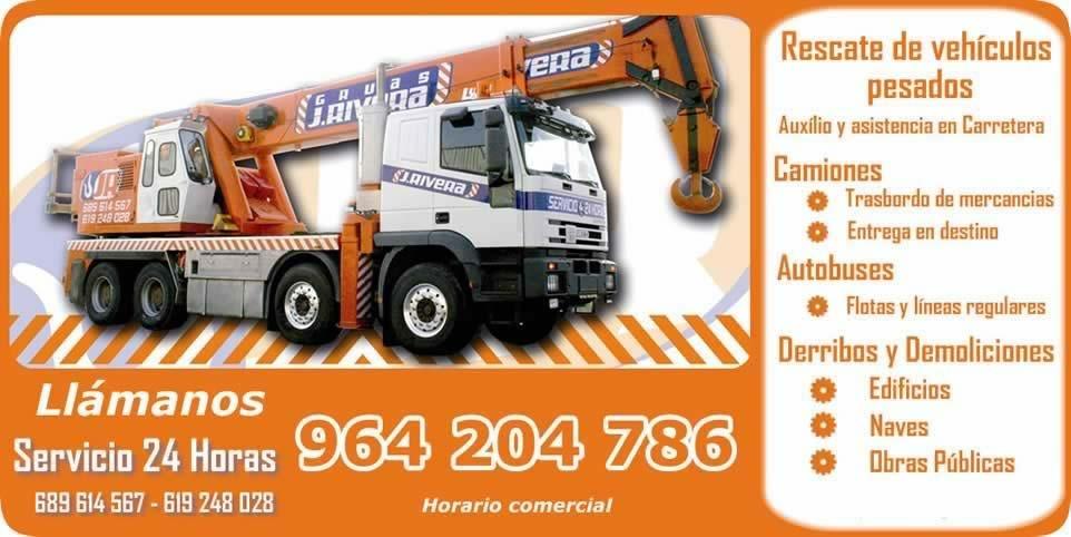 Gruas Valencia Castellón Gruas para rescate y asistencia de Camiones en Valencia y Castellón